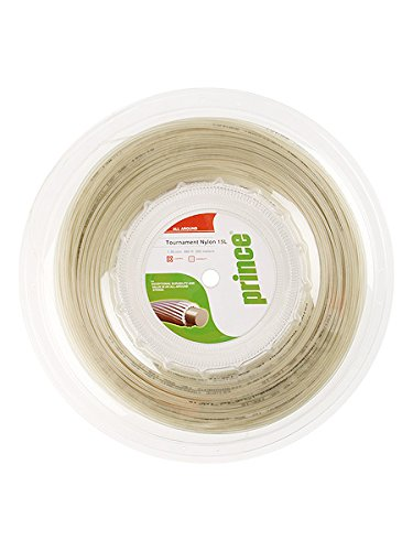 Prince Tournament Nylon 15l Natural Tennis String (Nylon Reels)