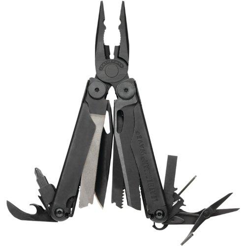 Leatherman Wave Black Oxide Finish Multi Tool with Nylon MOLLE Sheath , 830246, Outdoor Stuffs
