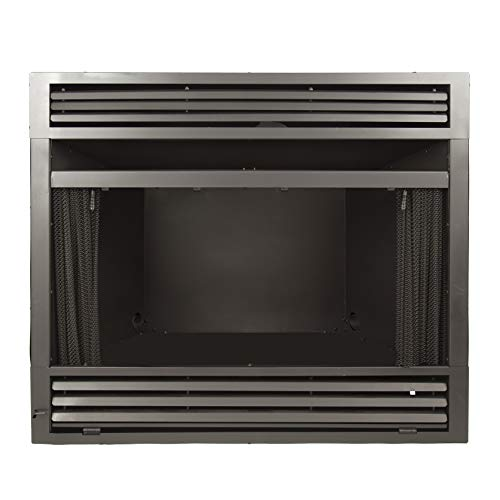 Pleasant Hearth 42 in. Circulating Zero Universal Vent Free firebox, Black ()