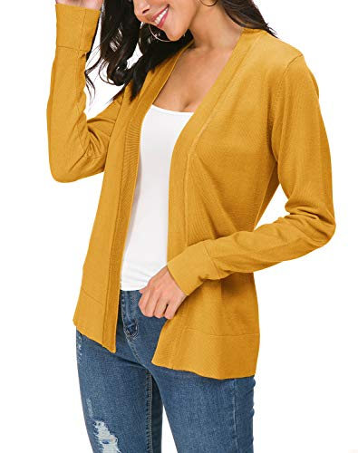 Urban CoCo Women's Long Sleeve Open Front Knit Cardigan Sweater