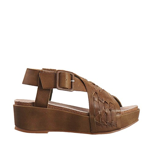 Antelope Womens 401 Leather Double Woven Cross Sandals Khaki oqdRG