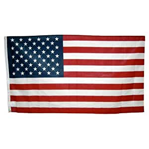 Online Stores Inc. 3pies x 5pies Poliéster Algodón americano bandera–Estados Unidos hecho