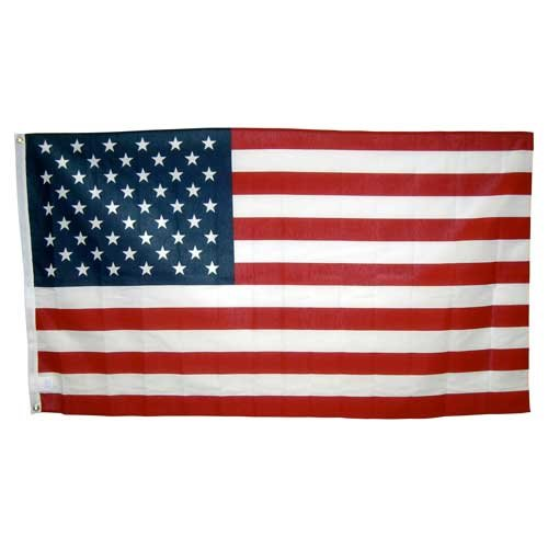 3ft x 5ft Poly Cotton American Flag - U.S. Made 5' Poly Cotton Flag