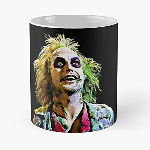Beetlejuice Betelgeuse Tim Burton Goth - 11 Oz Coffee Mugs Unique Ceramic Novelty Cup, The Best Gift For Holidays. -
