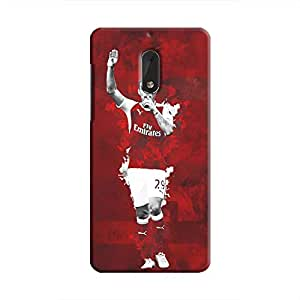 Cover It Up - Granit Xhaka Red Nokia 6 Hard Case