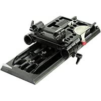 CAMTREE 19mm/15mm CNC Aluminum Camera Base Plate with ARRI Standard Dovetail Tripod Plate for DSLR Video Camcorder Sony Nikon Canon BMCC Cameras (CH-DTPQ)