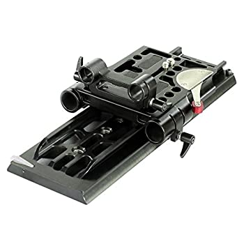 Image of Camera Mounts & Clamps CAMTREE 19mm/15mm CNC Aluminum Camera Base Plate with ARRI Standard Dovetail Tripod Plate for DSLR Video Camcorder Sony Nikon Canon BMCC Cameras (CH-DTPQ)