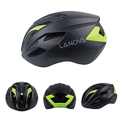 Bicycle Helmet Adult One-Piece Mountain Bike Road Bike Riding Helmet Adjustable PC + EPS 14 Holes-Black-M(55-57CM) : Sports & Outdoors