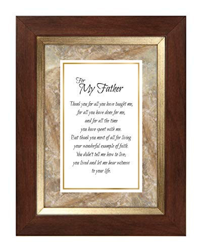 US Gifts for My Father -7'' X 9'' Framed Tabletop