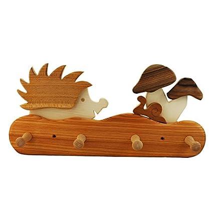 Niños perchero de madera, erizo Niños Muebles, niños ...