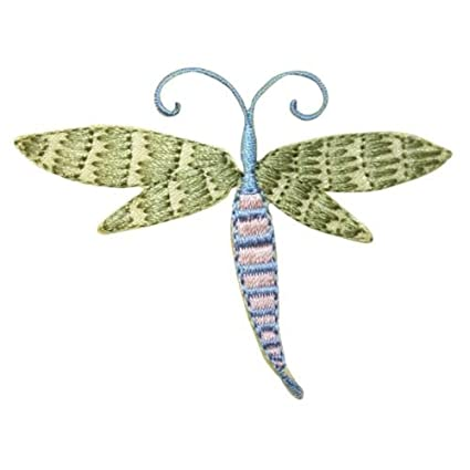 ID 1665B Fairy Dragonfly Patch Mystic Garden Bug Embroidered Iron On  Applique For Accessories   Bags
