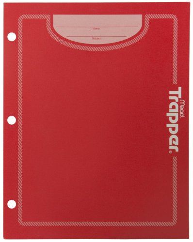 Mead Trapper Keeper 2-Pocket Folder, Red (72187)