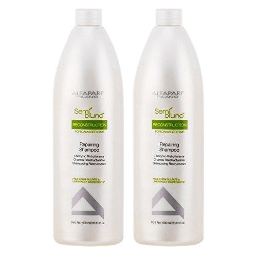 - Alfaparf Milano Semi Di Lino Reconstruction Reparative Shampoo, 33.8 Fl Oz (2 pack)