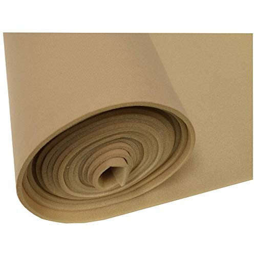 Lt Tan Auto Headliner 3/16 Foam Backed Fabric Material 120
