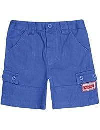 JoJo Maman Bebe Little Boys' Essential Twill Shorts Cobalt, Sizes 2-6
