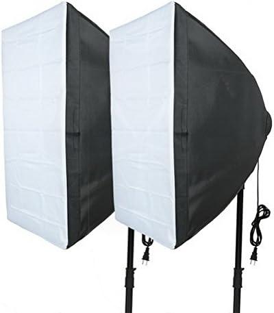 2Pcs US Plug 40cmx60cm Four Flash Holder Umbrella Softbox Kit for Photo Video Studio by Ucland