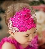 Haarreif für Babys, Schleife, Rot