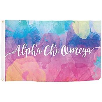 Amazon.com: Alpha Chi Omega – Sorority letra bandera: Jardín ...