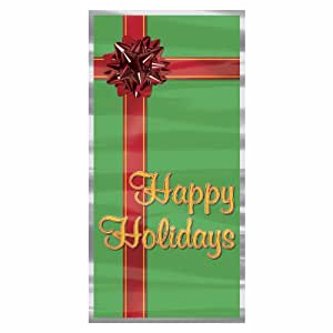 Happy Holidays Door Cover Party Accessory (1 count) (1/Pkg)