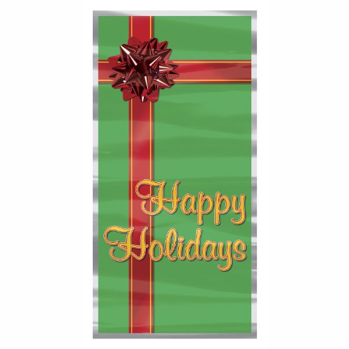 Happy Holidays Door Cover Party Accessory (1 count)