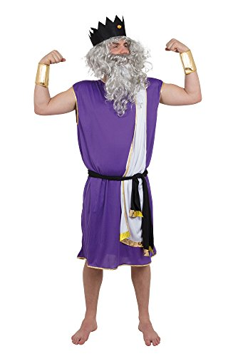 Greek God Costumes Poseidon - Bristol Novelty AC345 King Neptune Costume,