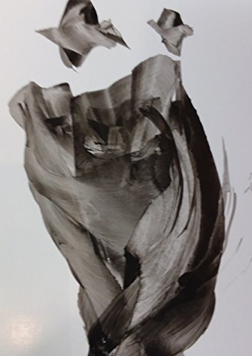 Black and White Abstract Gesture drawing with ink on Paper,Dad and Child by Red Studio Gallery