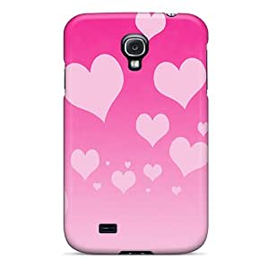 Rugged Skin Case Cover For Galaxy S4- Eco-friendly Packaging(pink Hearts)