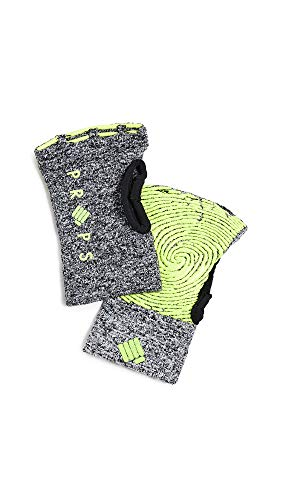 Props Athletics Women's Freedom Athletic Compression Gloves, Grey/Yellow, Large (Best Rowing Machine Technique)