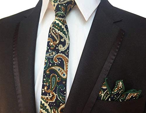 Yuany Corbata Flaca con Lazo de Bolsillo y pañuelo de Bolsillo ...