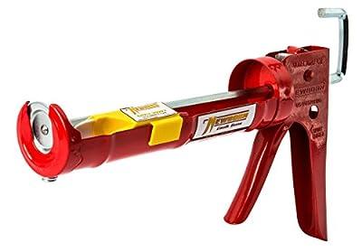 Newborn 102D Drip-Free Smooth Hex Rod Cradle Caulking Gun, Red