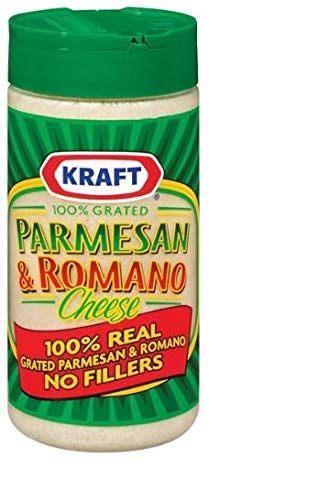 Kraft Grated Parmesan and Romano Cheese [Pack of 3]