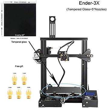 YA Impresora 3D CREALITY Ender-3X Vidrio Templado Mejorado, Ranura ...
