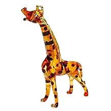 TINY CRYSTAL Giraffe HAND BLOWN CLEAR GLASS ART Giraffe FIGURINE ANIMALS COLLECTION GLASS BLOWN ... by Mr_air_thai_Glass_Blown
