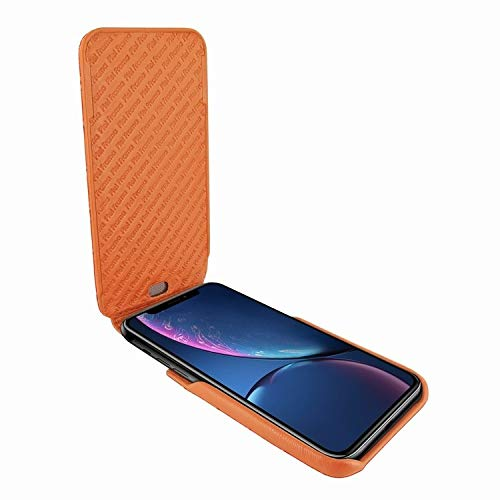 Latest Piel Frama iPhone XR iMagnum Leather Case - Orange Cowskin-Crocodile orange iphone xr case 2