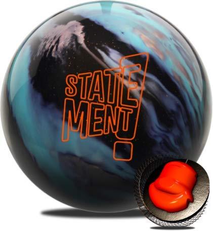 Hammer Statement Hybrid Bowling Ball- Black/Aqua/Silver 13LB
