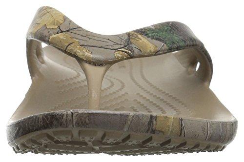 Crocs - Frauen Kadee Ii Realtree Xtra Flip Sandalen Khaki