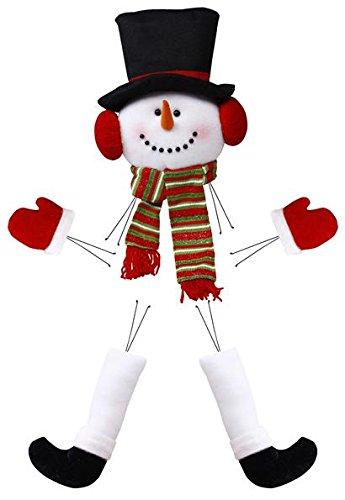 Snowman Head Legs Hands Plush Wreath Embellishment Kit (5 pieces, 28