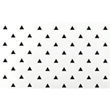 "JCM Custom TG0001-4-108-02 Triangle Removable Wall Vinyl Decal Sticker Decor, 4"" x 3.5"", Black, Set of 108"