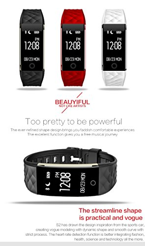 Fitness Tracker Waterproof with Heart Rate Monitor, Fitness Watch with Wearable Pedometer,Activity Tracker for Kids,Women and Men, Smart Wristband for iPhone 7 PLUS ,Galaxy S8 and other Smartphones