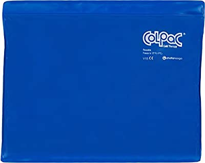 """Chattanooga ColPac Cold Therapy, Blue Vinyl, Large/Standard-Size Cold Pack (11"""" x 14"""")"""
