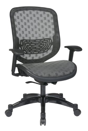 SPACE Seating DuraFlex Charcoal Back and Seat, Self Adjusting 4-to-1 Synchro Tilt with Gunmetal Finish Managers Chair ()