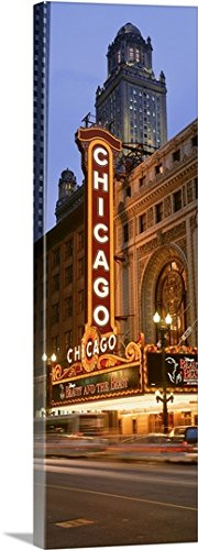 Canvas On Demand Premium Thick-Wrap Canvas Wall Art Print entitled Chicago Theater Chicago IL - State St Il Chicago
