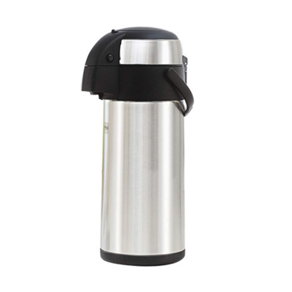 Vacuum Flasks Hot Water Dispenser,3/4/5L Pump Action Double-Walled Insulated and Lightweight Hot Cold Drink Beverage Perfect for Coffee Tea Vacuum Jug (Size : 15x36cm) Moolo