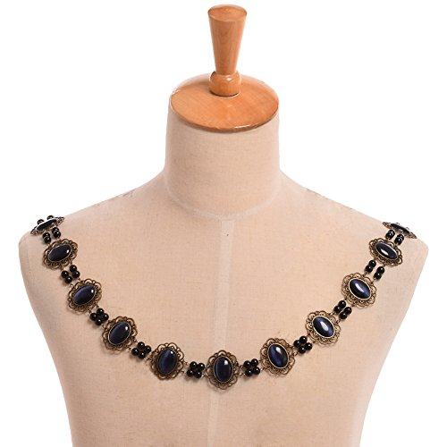 Men Costume Elizabethan (GRACEART Tudors Chain of Office Livery Collar Necklace (Dark Blue)