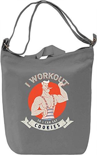 I workout Borsa Giornaliera Canvas Canvas Day Bag| 100% Premium Cotton Canvas| DTG Printing|