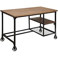 HOMES: Inside + Out Luella Industrial Writing Desk, Antique Black