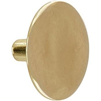 Hardware House 59-9852 Round Cabinet Knob, Bright Brass