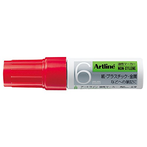 Shachihata permanent marker angle 6 red (bag) K-50 / (Shachihata Red Markers)