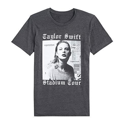 Taylor Swift Reputation Stadium Tour Tee Dark Grey Heather Album Cover Tour Tee (Youth Medium)