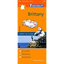 Brittany/Brettagne Map MH512 1:200 000